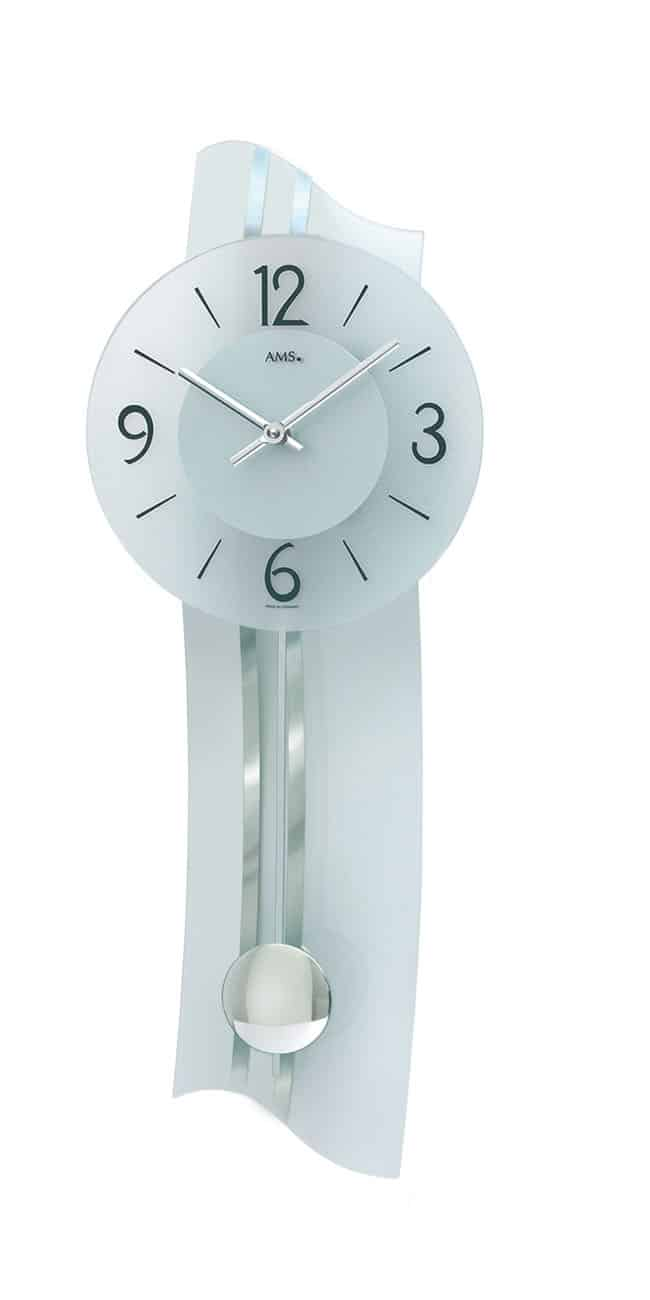 Ams 7239 Glass Wall Clock Ams Clocks