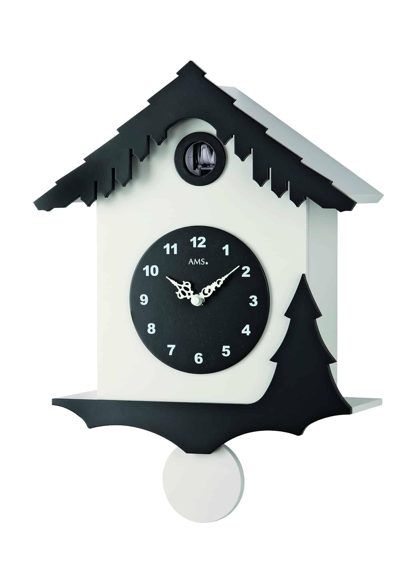 White Modern Cuckoo Clock