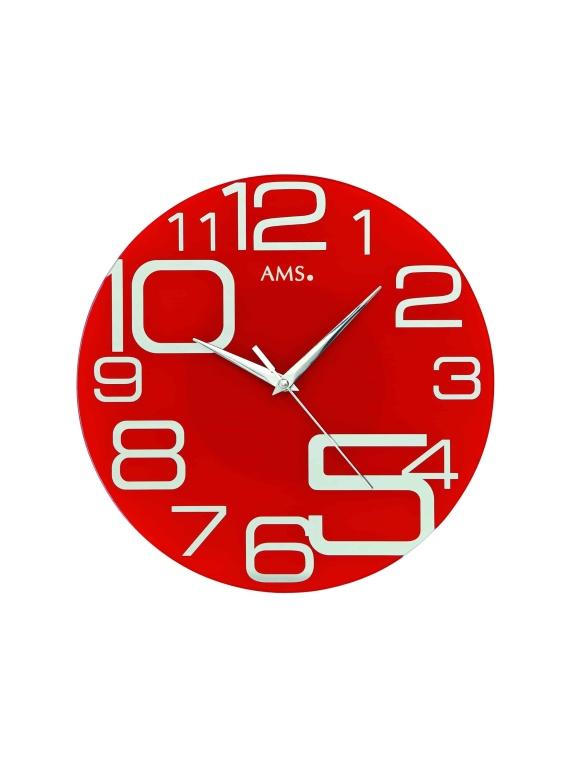 AMS 9462 Circular Glass wall Clock