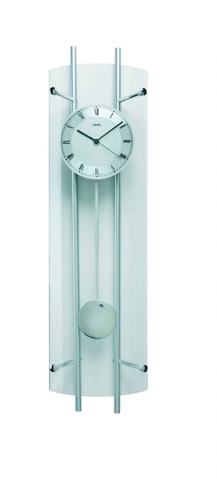 Ams 5225 curved glass wall clock ams clocks for Curved glass wall