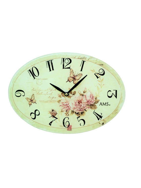 AMS Glass Clock 9478