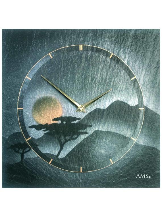 AMS Slate Quartz Clock 9514