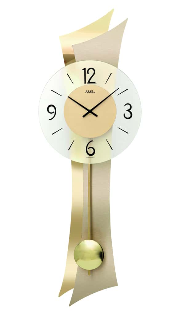 AMS 7427 Quartz Pendulum Wall Clock AMS Clocks